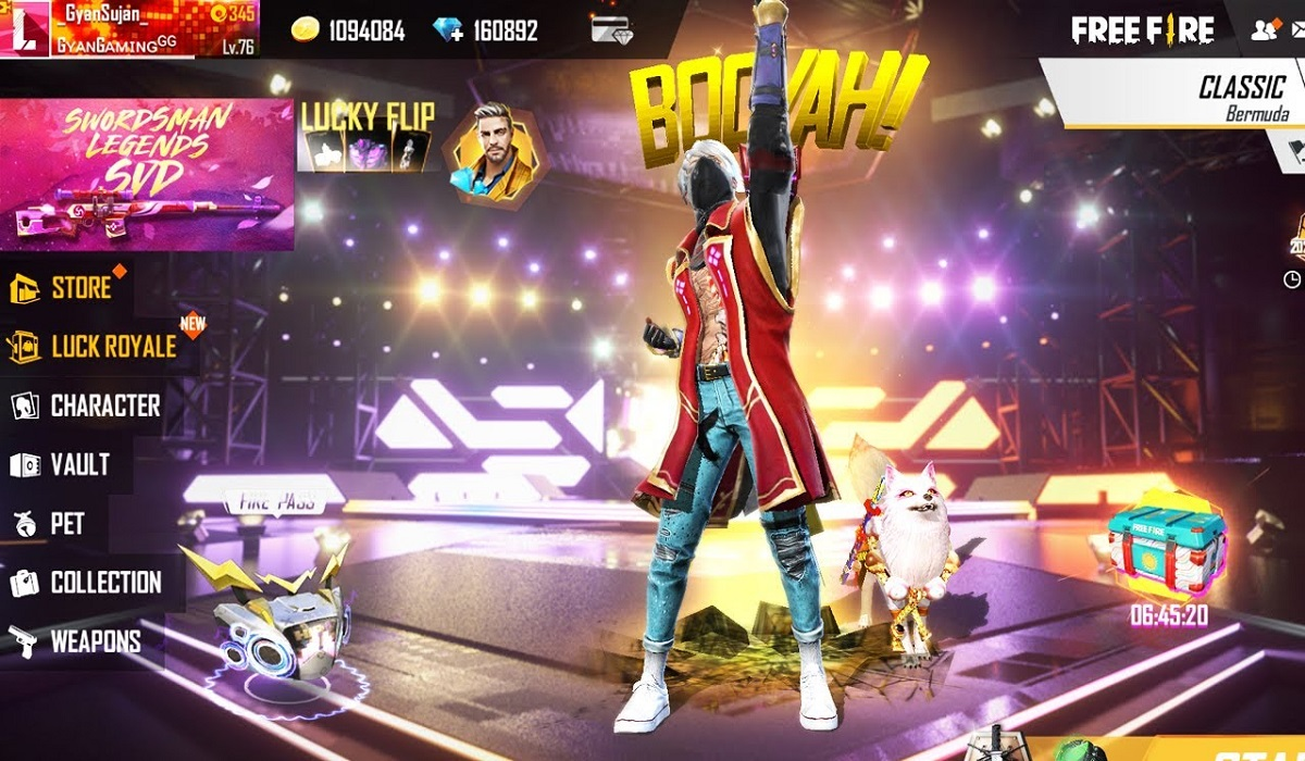 free fire topup events